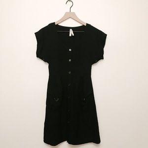 ANTHROPOLOGIE Maeve Staysail Cargo Dress Black